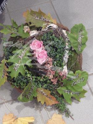 Trauergesteck Herbst Einfach Blume