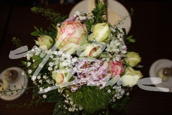 Rosa Rosen Hochzeitsgesteck Einfach Blume
