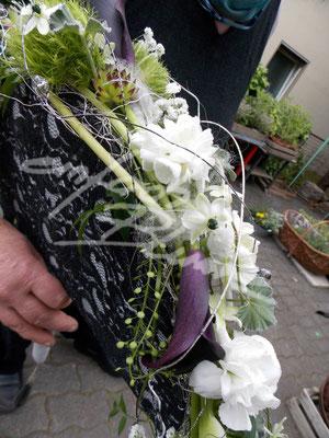 Faecherbrautstrauß Seite Einfach Blume