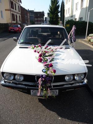 Hochzeitsschmuck quer Einfach Blume