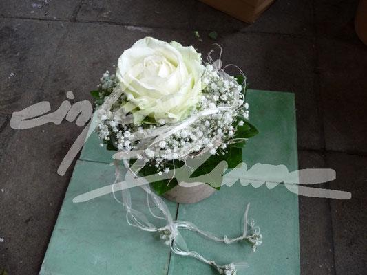 Standesamtstrauss Weiss Einfach Blume