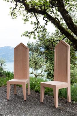 Altar Stühle Buchenholz.