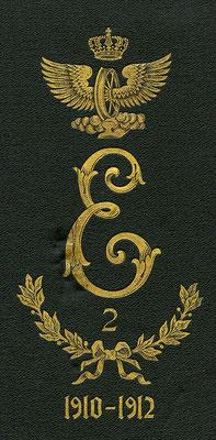 """Emblem des Eisenbahnregiments II mit dem großen, verschnörkelten E, weswegen die Soldaten im Volksmund als """"Schöneberger Engel"""" bezeichnet wurden..."""