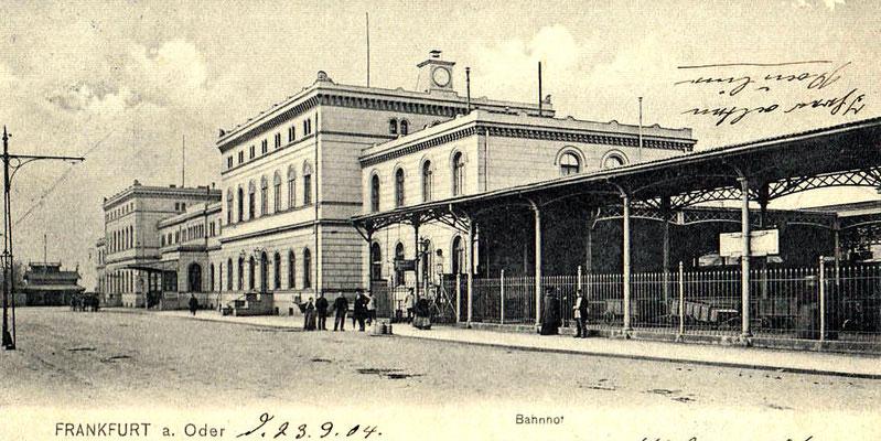 1904: Das alte Bahnhofsgebäude in Frankfurt (Oder)