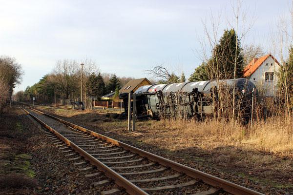Rangierunfall im Güterbahnhof Kablow, 20.12.2015