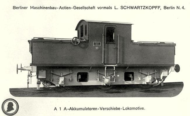 Akku-Lokomotive von 1917