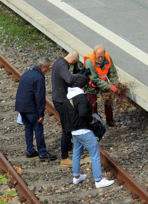 Dreharbeiten der ARD in Zernsdorf, 2019