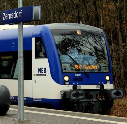 22.11.2016: Endstation Zernsdorf für NEB VT 005 wegen Streckensperrung Richtung KW