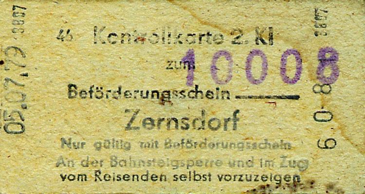 1979: Kontrollkarte