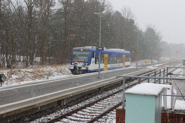 28.03.2018: NEB 001 im Schneetreiben