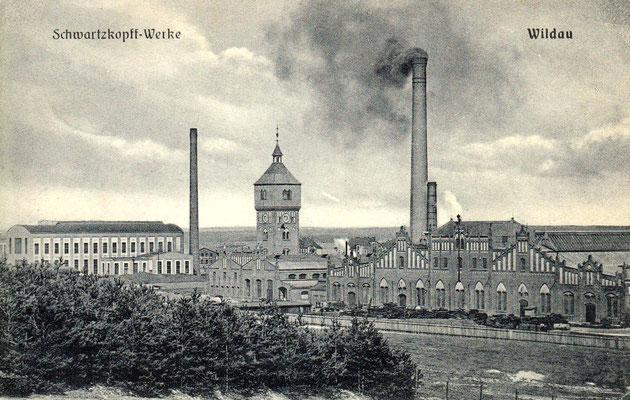 Fabrikanlagen der BMAG in Wildau im Jahre 1915