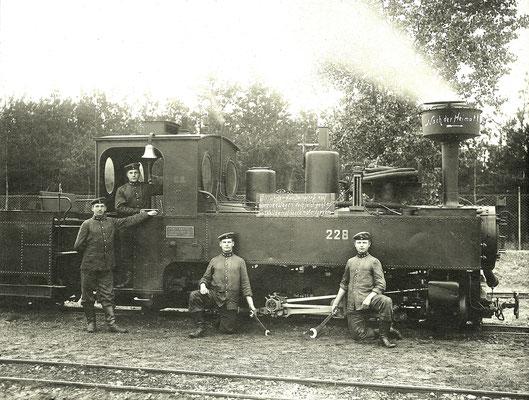 1912: schmalspurige Brigadelok 228