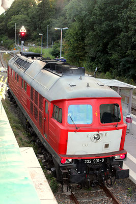 03.09.2016: Lok 232 901 der DB auf Gleis 2