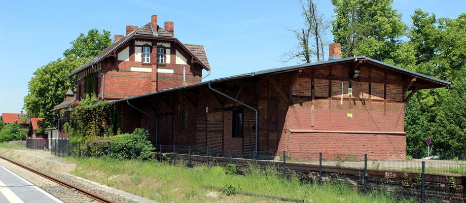 Bahnhofsgebäude Storkow, 18.05.2017