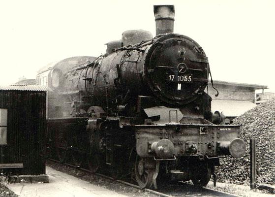 Um 1970: Lok 17 1055 in Lübbenau