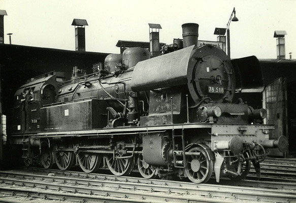 1967: Lok 78 518 in ihrem Heimat-Bw Lübbenau