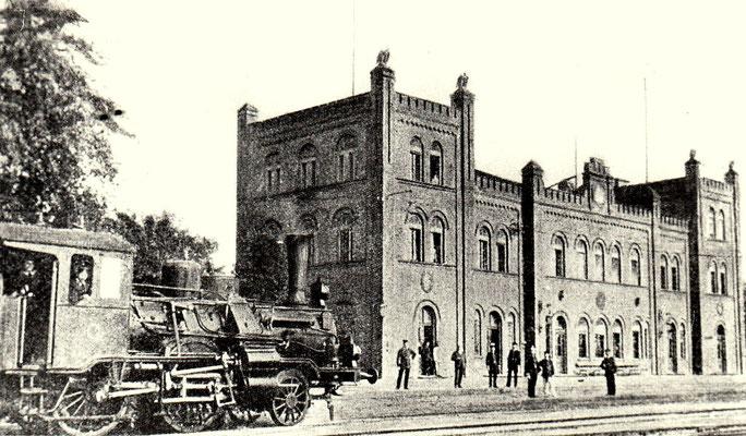 1900: Ebenda mit einfahrender Borsig-Lok Nummer 12
