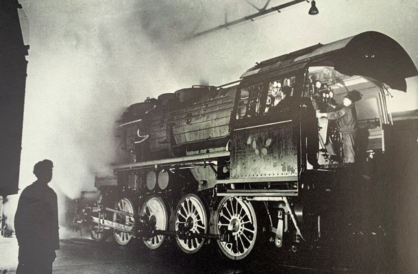Anheizen der 50 1304, Fabriknummer 11598, 1941