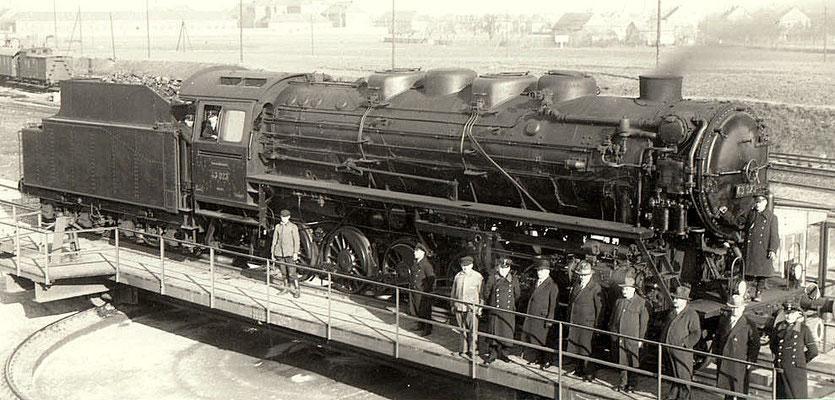 BMAG-Lok 43 023 nach Ablieferung 1928 im Bw Reichenbach/V