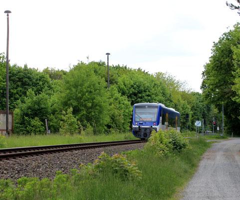 VT 007 am ehemaligen Abstellbahnhof Zernsdorf, 17.05.2015