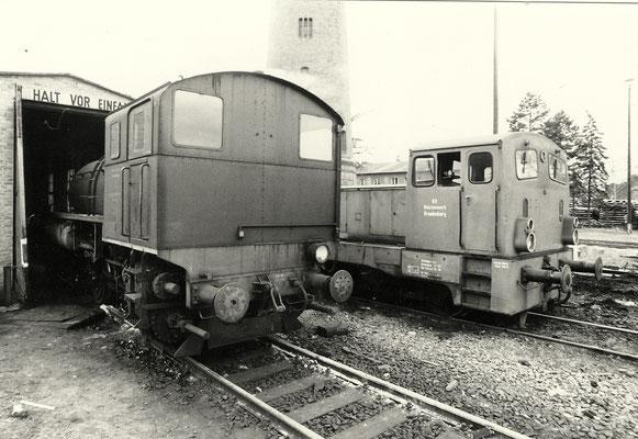 1990: Dampfspeicherlok und Diesellok