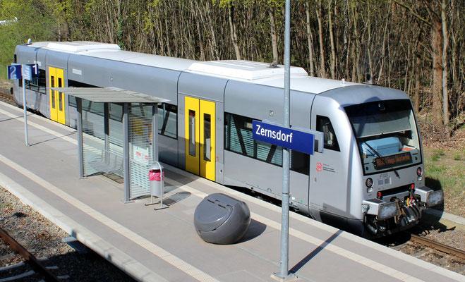 21.04.2016: Leih-Triebwagen Nummer 20 der Mitteldeutschen Regiobahn in Diensten der NEB