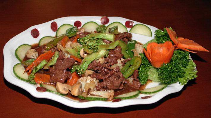 Rindfleisch nach Szechuan-Art