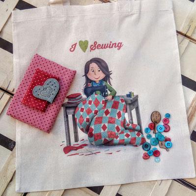 Tote bag I love sewing