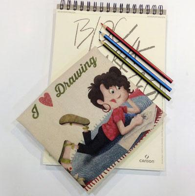 Tote bag I love drawing