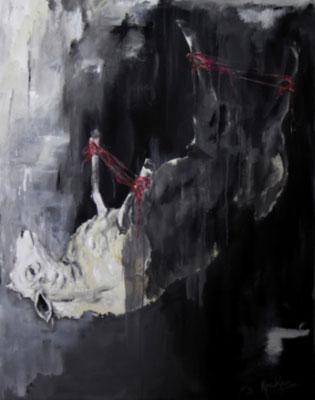 Stille, 140 x 110   Acryl a. Lw.