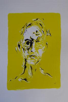 Lithographie, schwarze Tusche,  50 x 40 cm
