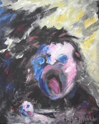Angst, 100 x 80  Acryl a. Lw.
