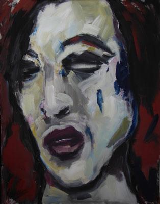 Portrait, 140 x 110  Acryl a. Lw.