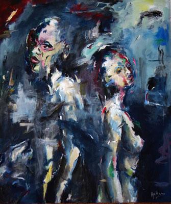 Dance with a Stranger, 190 x 160  Acryl a. Lw.