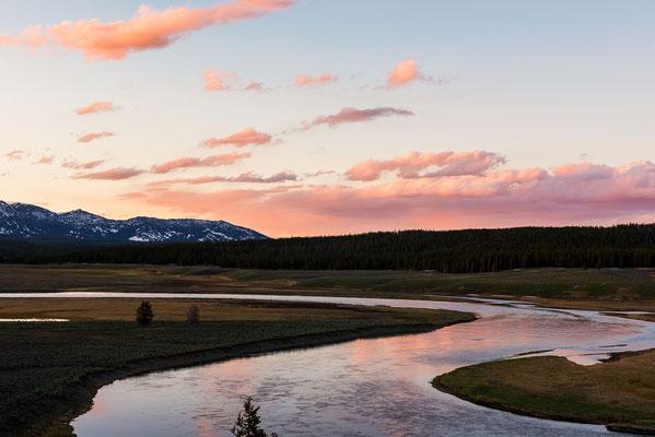 Sonnenuntergang am Yellowstone River - Yellowstone NP, Wyoming