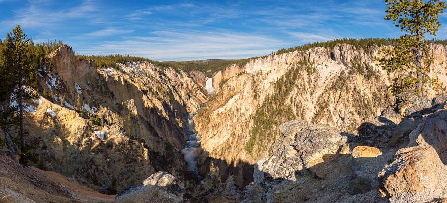 Grand Canyon of the Yellowstone Panorama, Wyoming