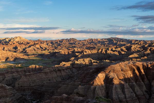 Die Badlands im Morgenlicht, South Dakota