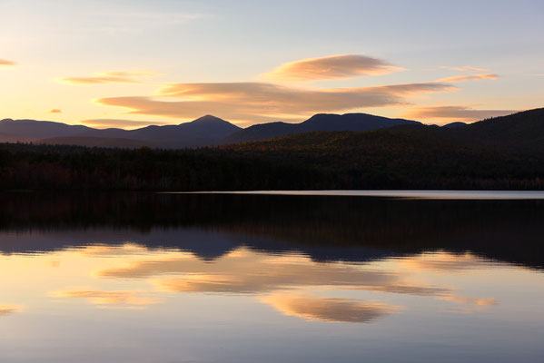 Chocorua See bei Sonnenuntergang, New Hampshire