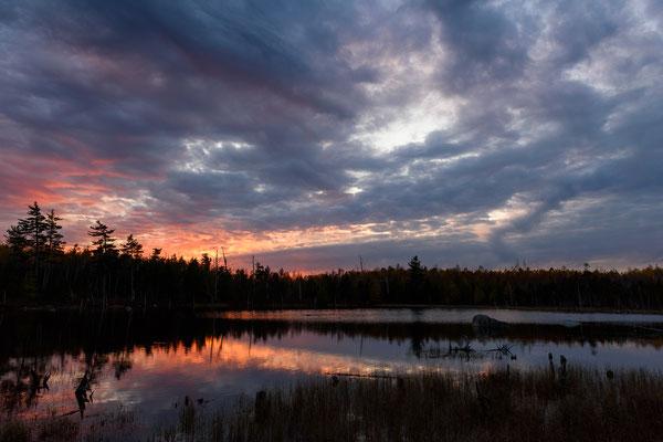Stump Pond Sonnenuntergang, Baxter State Park - Maine