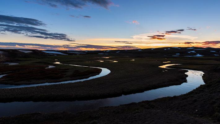 Sonnenuntergang im Hayden Valley Yellowstone NP, Wyoming