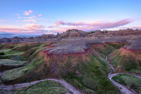 "Die ""Painted Hills"" im Badlands NP, South Dakota"