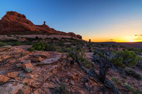 Kurz nach Sonnenuntergang - Arches NP, Utah