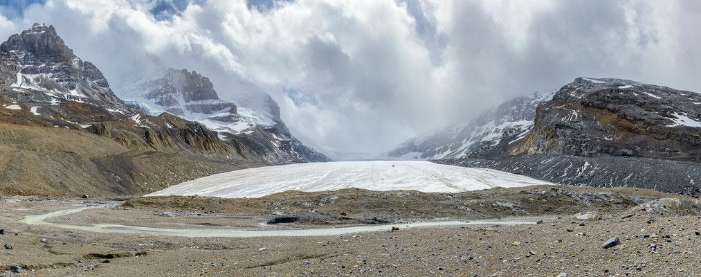Panorama des Athabasca Glaciers, Kanada