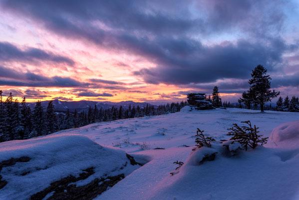 Winter sunset am Teufelstein