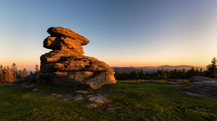 Sonnenuntergang am Teufelstein - Fischbach, Steiermark