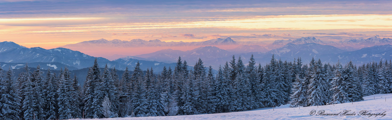 Winterlandschaft in den Fischbacher Alpen, Steiermark