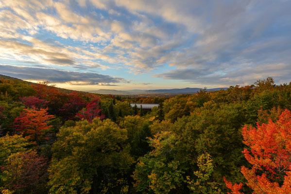 Herbstlicher Sonnenuntergang in New Hampshire