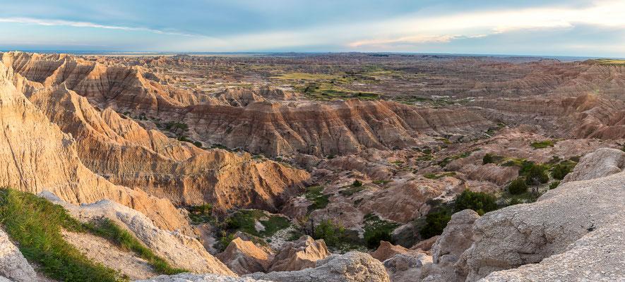 Panorama der Badlands - Badlands NP, South Dakota