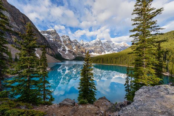 Moraine Lake im Valley of the Ten Peaks - Banff NP, Kanada