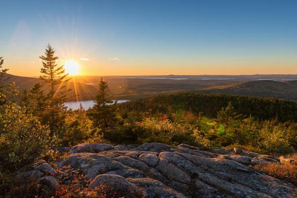 Sonnenuntergang am Cadillac Mountain - Acadia NP, Maine